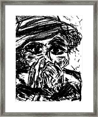 Harmonica Blues Player Framed Print by Peggy Leyva Conley