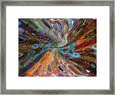 Framed Print featuring the digital art Harmonious Discord by Ginny Schmidt