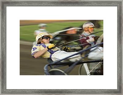 Harness Racing 1 Framed Print by Bob Christopher