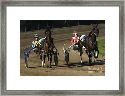 Harness Racing 10 Framed Print by Bob Christopher