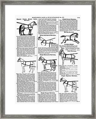 Harnesses, 1895 Framed Print