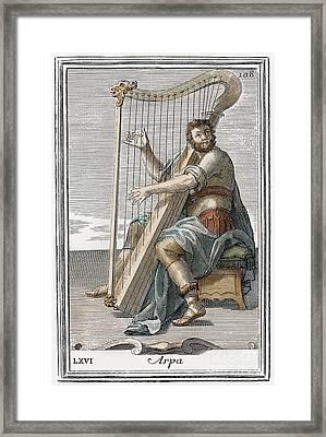 Harp, 1723 Framed Print
