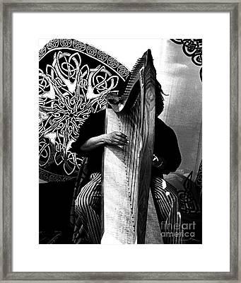 Harp Player Framed Print by Danuta Bennett