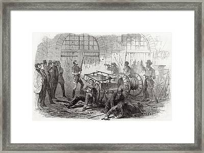 Harpers Ferry Insurrection, 1859 Framed Print