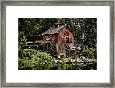 Harpers Mill Framed Print by Heather Applegate