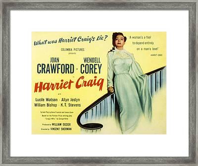 Harriet Craig, Joan Crawford, 1950 Framed Print by Everett