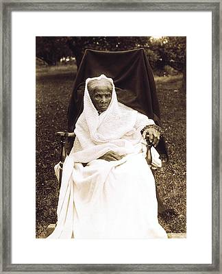 Harriet Tubman 1820-1913 In Old Age Framed Print by Everett