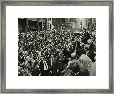 Harry Belafonte B. 1927 Speaking At An Framed Print