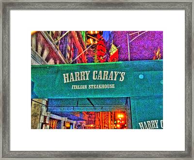 Harry Caray's Framed Print by Barry R Jones Jr