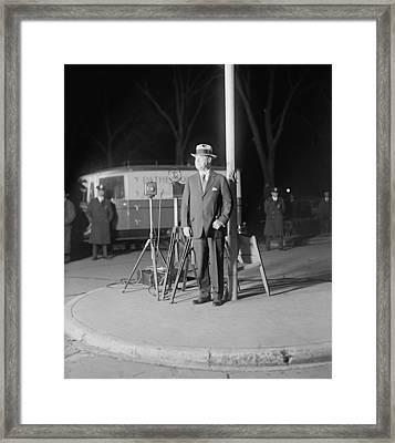 Harry F. Sinclair 1876-1956 Smiles Framed Print by Everett