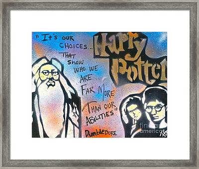 Harry Potter And  Dumbledore Framed Print by Tony B Conscious