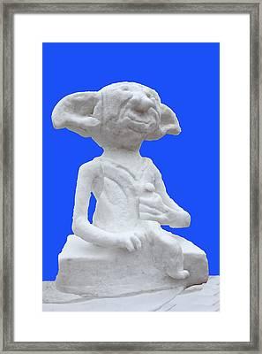 Harry Potters Dobby In Snow Framed Print by LeeAnn McLaneGoetz McLaneGoetzStudioLLCcom