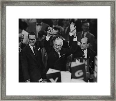 Harry Truman. From Left  Us Senator Framed Print