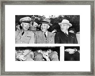 Harry Truman Observing The First Armed Framed Print by Everett