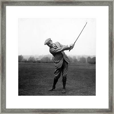 Framed Print featuring the photograph Harry Vardon Swinging His Golf Club by International  Images