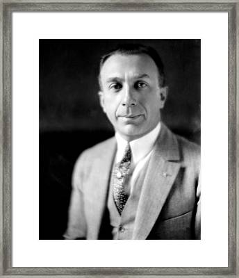 Harry Warner, 1881-1958, Co-founder Framed Print by Everett
