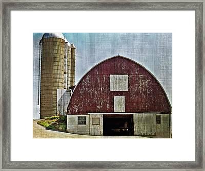 Harvest Barn Framed Print by Kathy Jennings