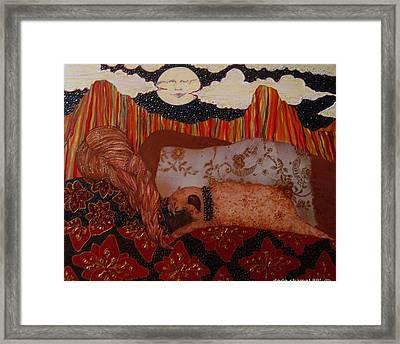 Harvest Moon Framed Print by Dede Shamel Davalos