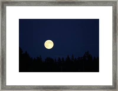 Harvest Moon Framed Print by Jerry Cahill