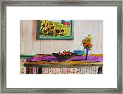 Harvest Table Framed Print by John Williams