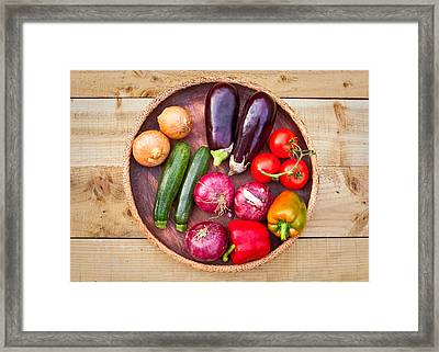 Harvest Framed Print by Tom Gowanlock