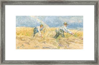 Harvester Framed Print by LP Smythe
