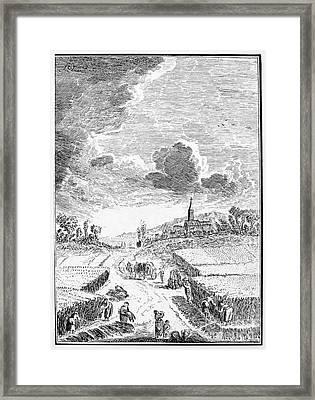 Harvesting, 18th Century Framed Print