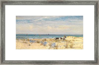 Harvesting The Land And The Sea Framed Print by William Lionel Wyllie