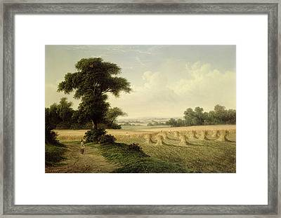 Harvesting Framed Print by Walter Williams