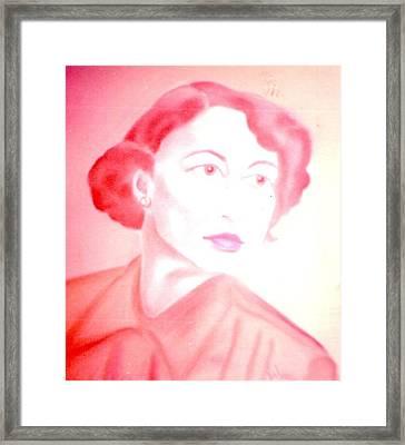 Harvey's Wife Framed Print
