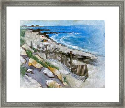 Harwich Port Beach Framed Print