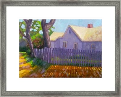 Harwich Port Sunlight Framed Print by Janet McGrath