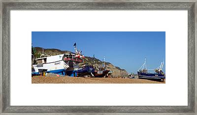 Hastings Fishing Fleet Framed Print by Sharon Lisa Clarke