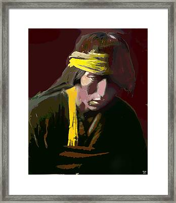 Framed Print featuring the mixed media Hastobiga by Charles Shoup