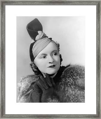 Hat By American Designer And Milliner Framed Print by Everett