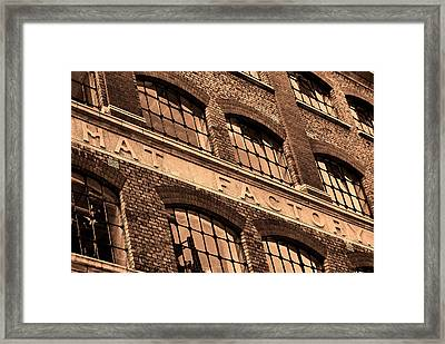 Hat Factory Framed Print by Jasna Buncic