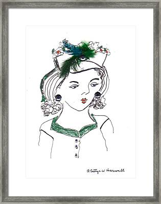 Hat Lady 10 Framed Print by Bettye  Harwell