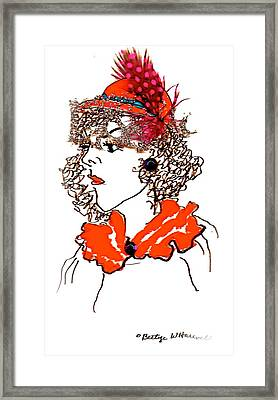 Hat Lady 7 Framed Print by Bettye  Harwell