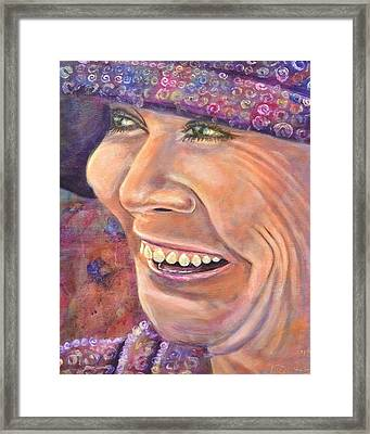 Hat Lady Framed Print by Bob Rowell