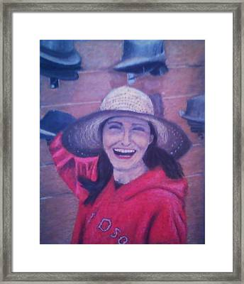 Hat Store Happiness Framed Print by Samuel McMullen