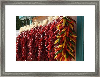 Hatch Peppers Framed Print