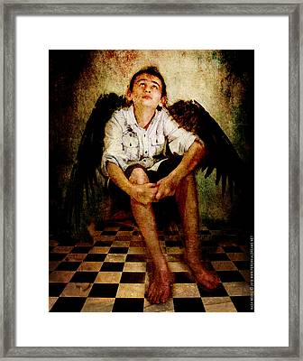 Framed Print featuring the photograph Hathaway Angel by Nada Meeks