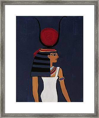Hathor Framed Print by Diana Martinez