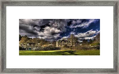Hatley Castle Panorama Framed Print