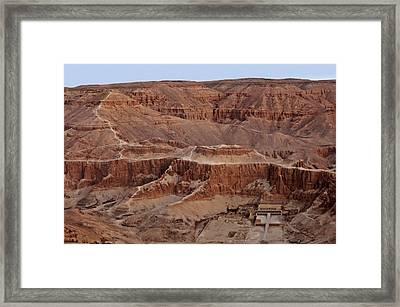 Hatshepsuts Mortuary Temple Framed Print by Kenneth Garrett