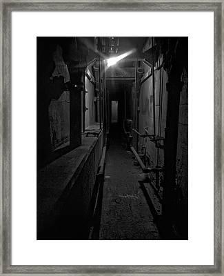 Haunted 1946 Battle Of Alcatraz Death Chamber Framed Print by Daniel Hagerman