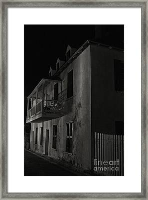 Framed Print featuring the photograph Haunted Alleyway by Vicki DeVico