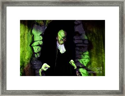 Haunted Butler Framed Print by Darleen Stry