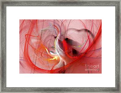 Framed Print featuring the digital art Haunted Hearts by Victoria Harrington