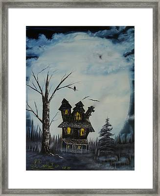 Haunted House 2007 Framed Print by Shawna Burkhart